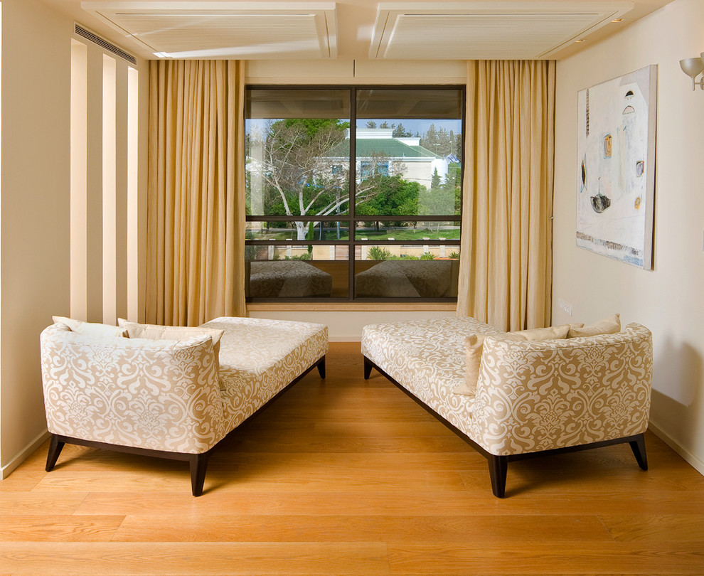 oversized chaise lounge Family Room Contemporary with alcove chaise lounge curtains damask drapes monochromatic