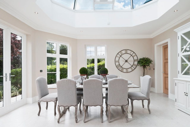 Oversized Wall Clock Dining Room Modern With Atmosphere Carved Wood Conservatory Cream Hutch Light