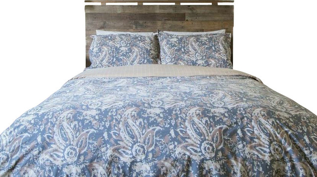 paisley duvet cover with 100 cotton 300 Thread Count bedding comforter contemporary bedding