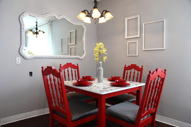 Papasan Chair Frame Dining Room Traditional with Black White and Red Bowl Budget Centerpiece Eclectic Eco Friendly