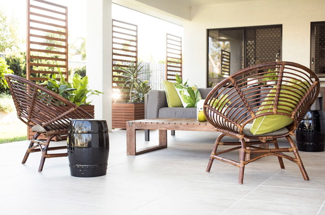 Papasan Cushions Patio Tropical with Contemporary Covered Patio Green Indoor Outdoor Living Midcentury Modern Midcentury