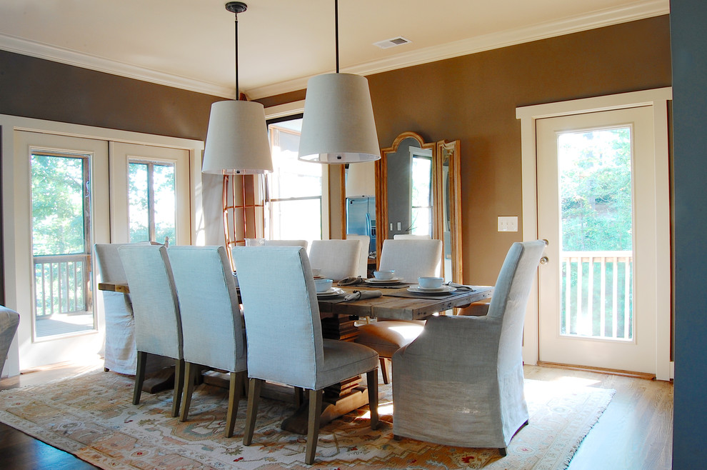 Parsons Chairs Dining Room Beach with Canoe Casual Dining Pendants Floor Mirror Formal