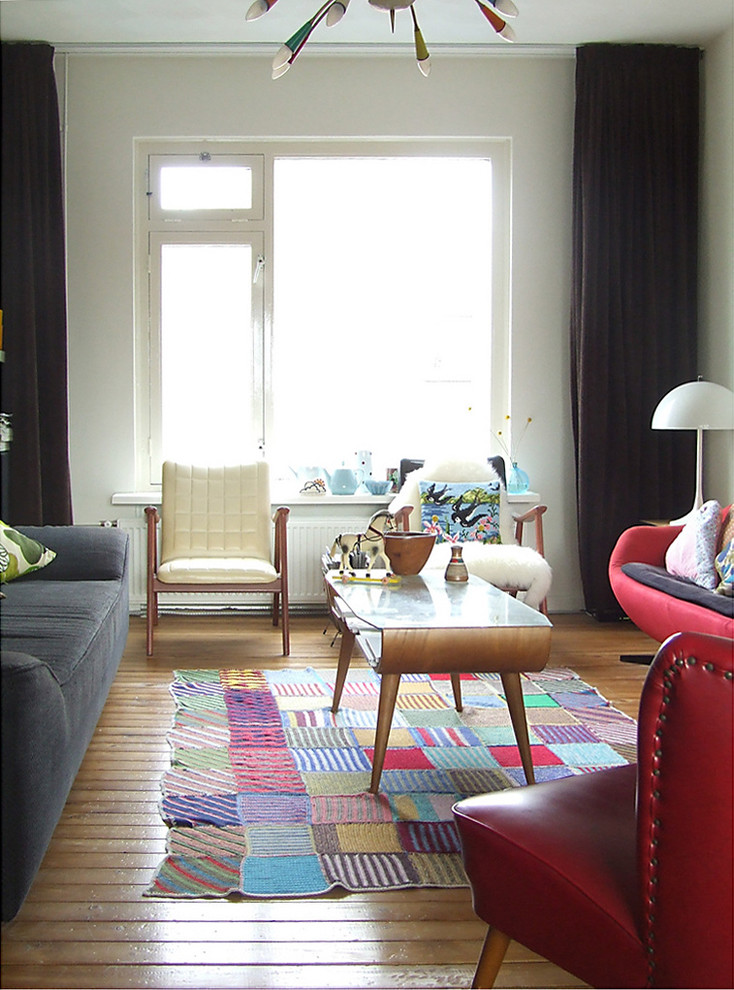 Patchwork Chair Living Room Midcentury with Art Bright Color Color Eclectic Etsy Fun