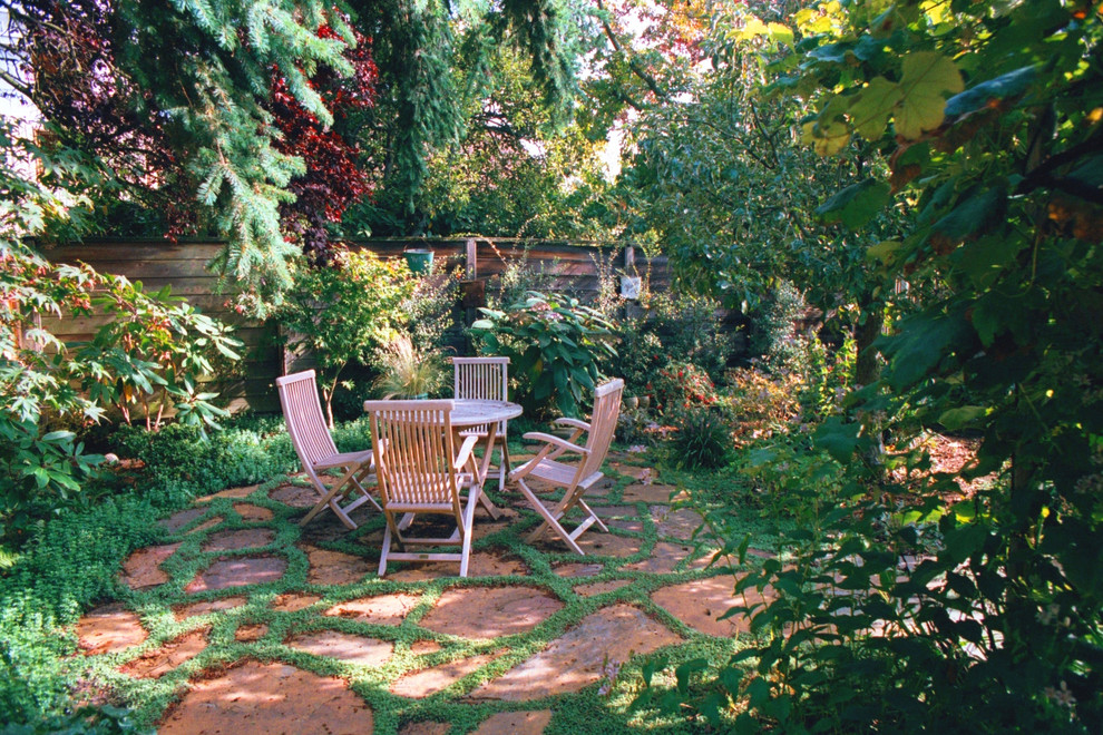 Patio Paver Ideas Landscape Rustic with Backyard Flagstone Northwest Outdoor Dining Outdoor Dining