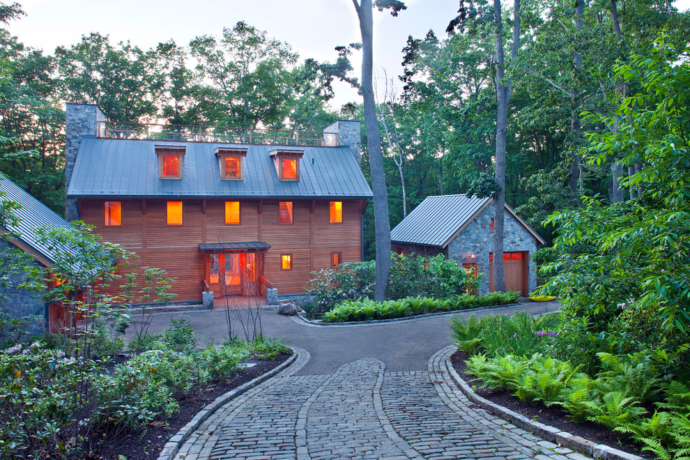 Paver Driveway Exterior Eclectic with Alcove Brick Driveway Brick Pathway Brick Walkway