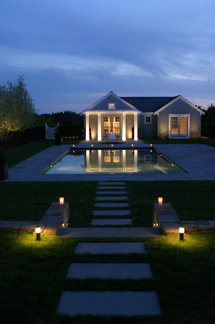 paver lights pool traditional with backyard cape cod column gate