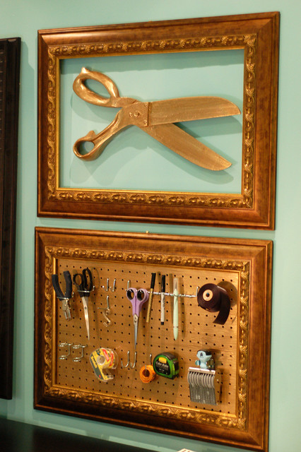 Pegboard Ideas Spaces Eclectic with Pegboard 1