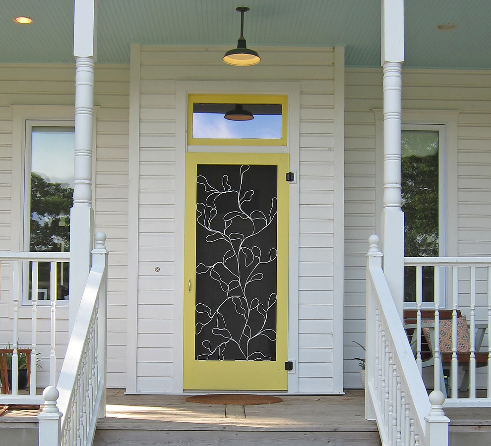 Pella Storm Doors Entry Traditional with Barn Pendant Covered Porch Entry Front Door