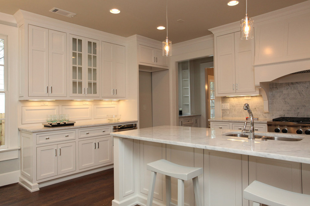 Pendant Light Conversion Kit Kitchen Traditional with Dark Stained Wood Frame and Panel Cabinets