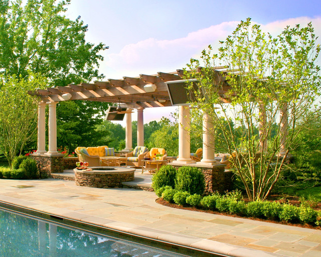 Pergola Kits Patio Traditional with Aquascape Blue Outdoor Colorful Outdoor Cushions Columns Construction Of
