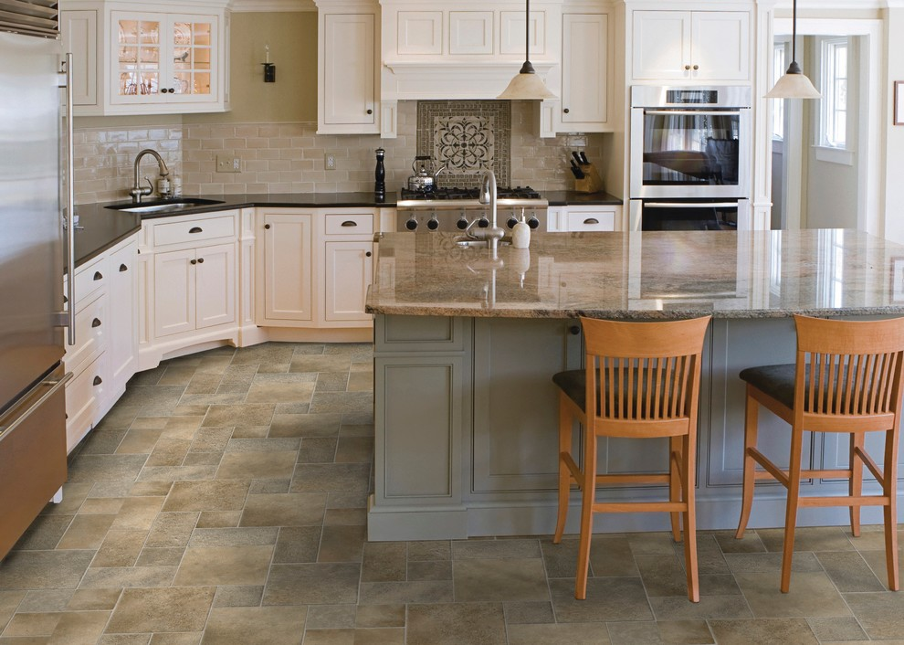 Permastone Kitchen Traditional with Colorful Kitchen Flooring Kitchen Flooring Luxury Flooring