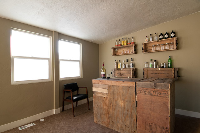 Personalized Tumbler Wine Cellar Eclectic with Alcohol Alcohol Bottles Beige Wall Carpet Home Bar Homemade
