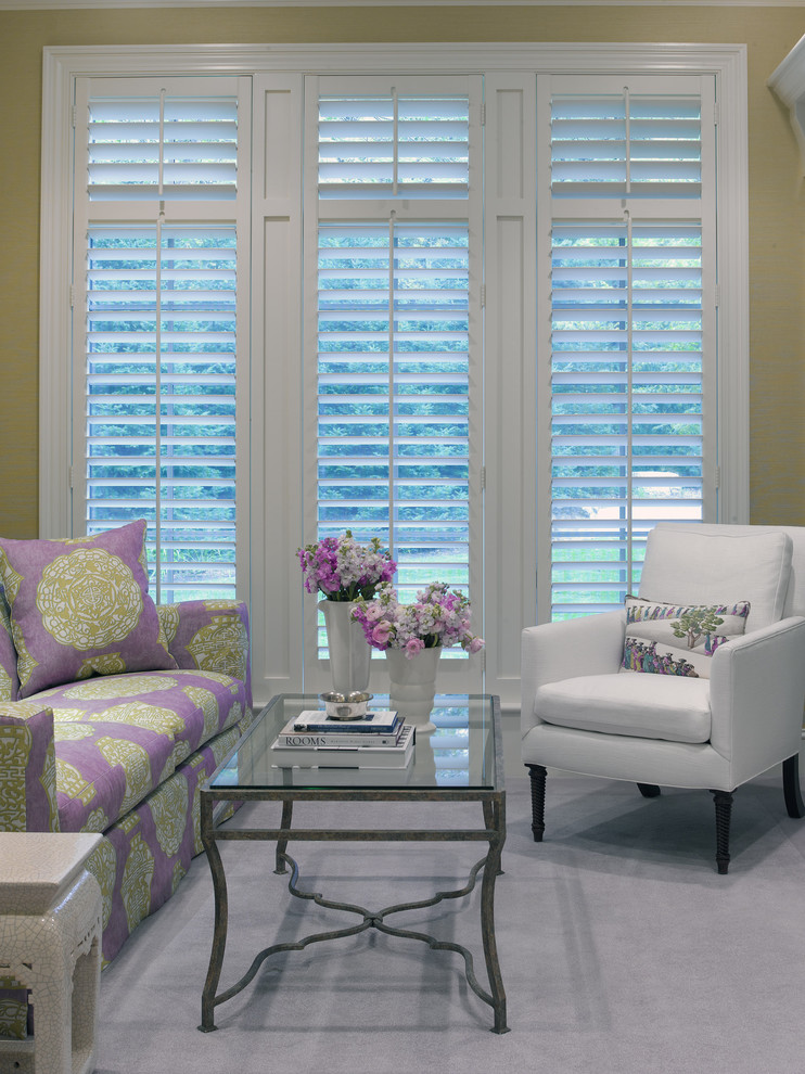 Plantation Shutters Costco Living Room Traditional With Area Rug Chic Classic Crackle Finish Feminine
