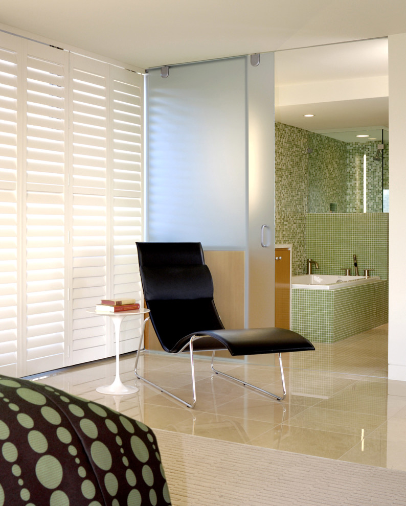 Plantation Shutters for Sliding Glass Doors Bedroom Modern with Bathroom Frosted Glass Glass Glossy Floor Lounge