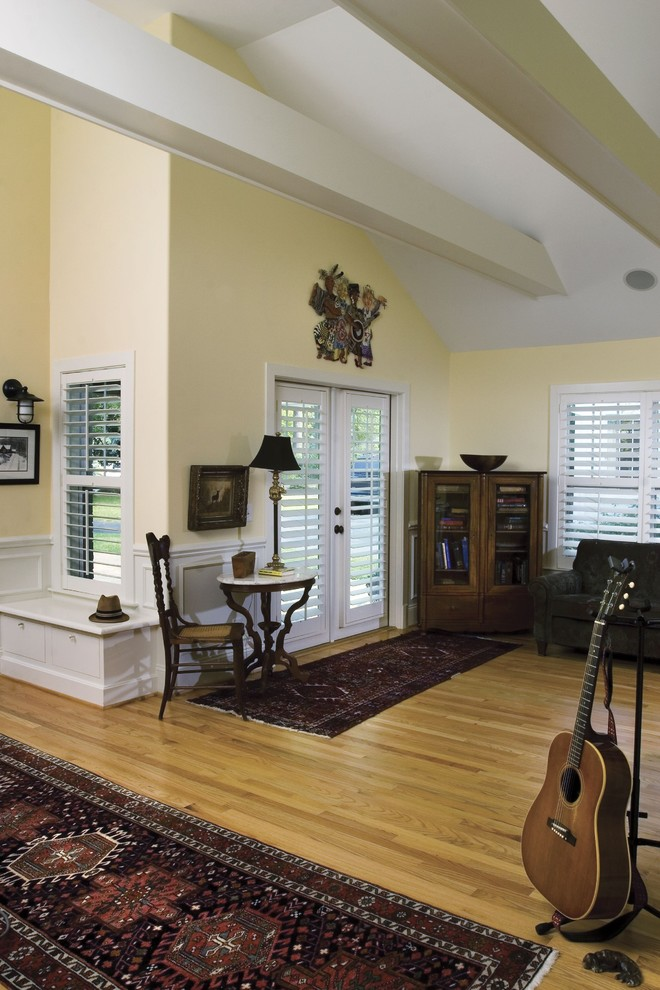 Plantation Shutters for Sliding Glass Doors Living Room Craftsman with Bench Exposed Beams French Doors Glass Doors