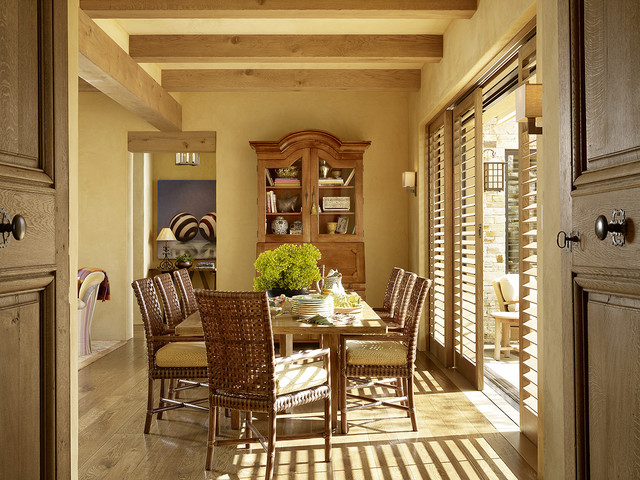 Plantation Shutters Lowes Dining Room Mediterranean with Armoire California Casual Dining Hutch Exposed Beams Napa Neutral
