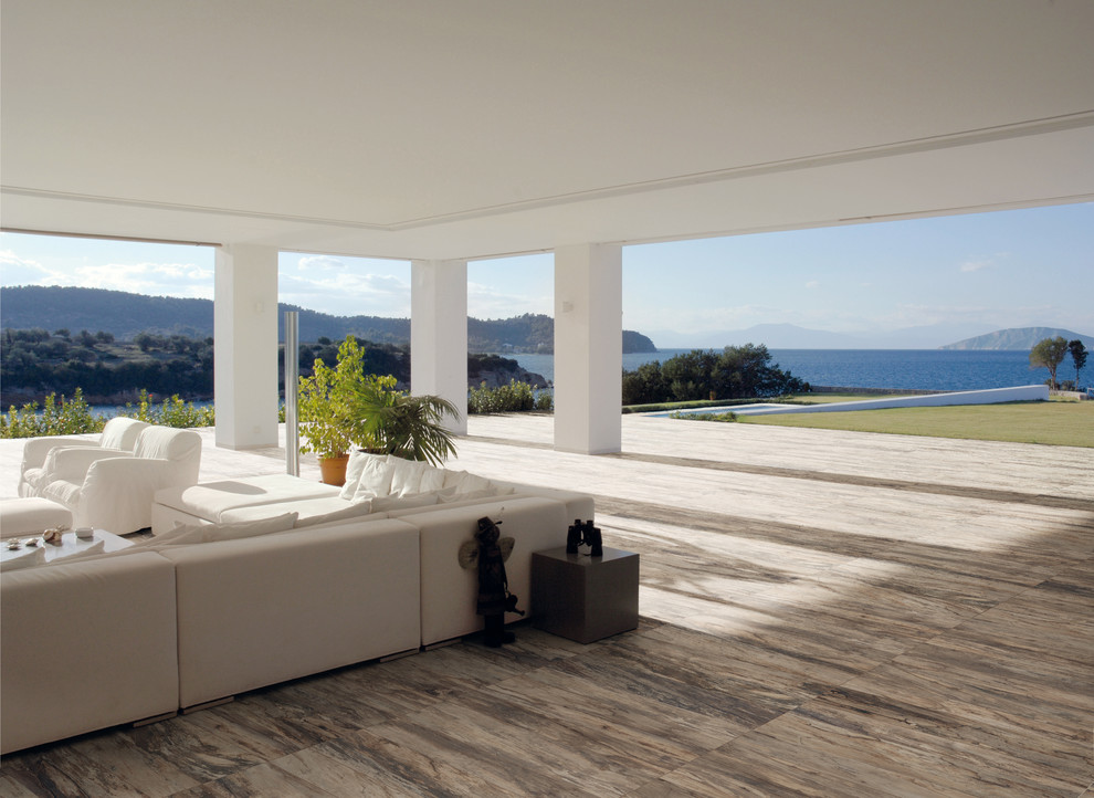 Porcelain Tile That Looks Like Wood Patio Contemporary with Acif Kauri Bark Indoor Outdoor Natural And