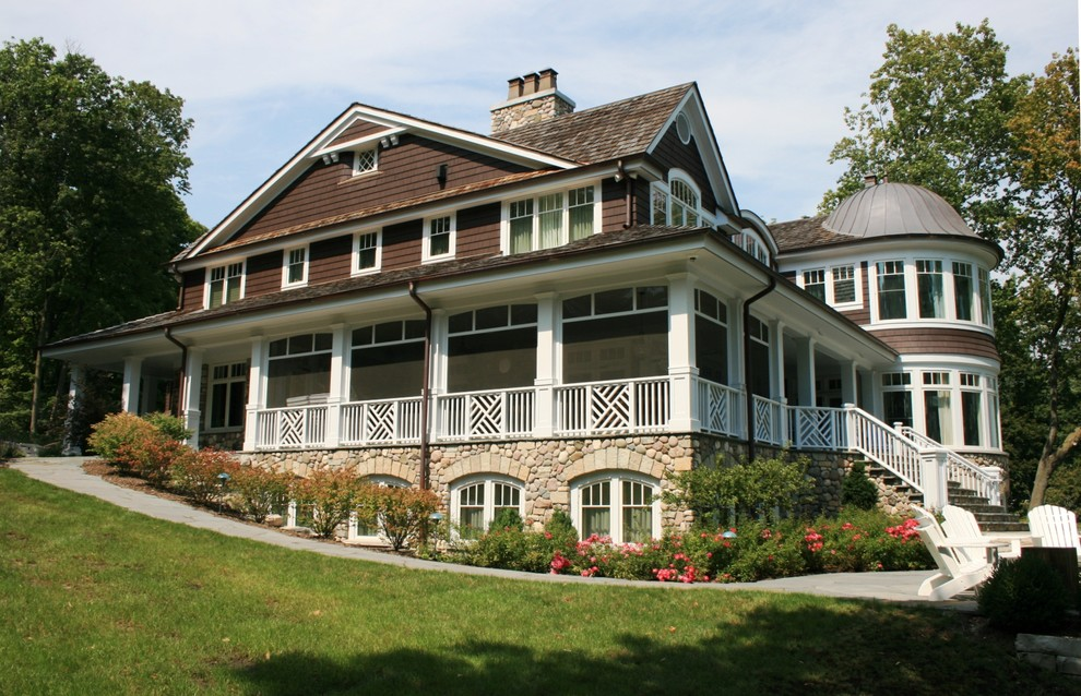 Porch Railing Ideas Exterior Victorian with Adirondack Chair Arched Window Copper Dome Craftsman