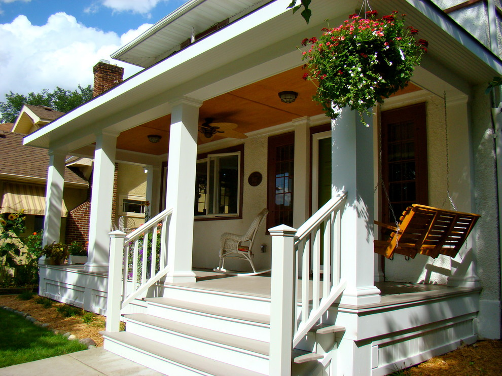 Porch Railing Ideas Porch Traditional with Azek Porch Banister Ceiling Fan Ceiling Light1