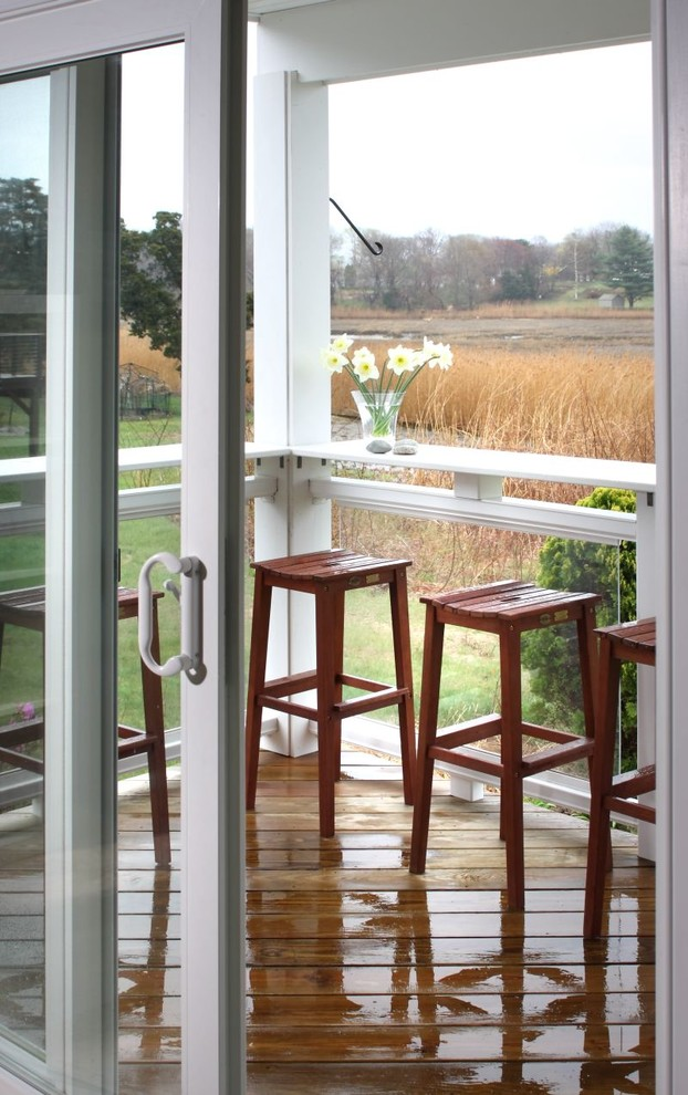 Porch Railing Ideas Porch Traditional with Barstools Breakfast Bar Daffodils Deck Eating Area