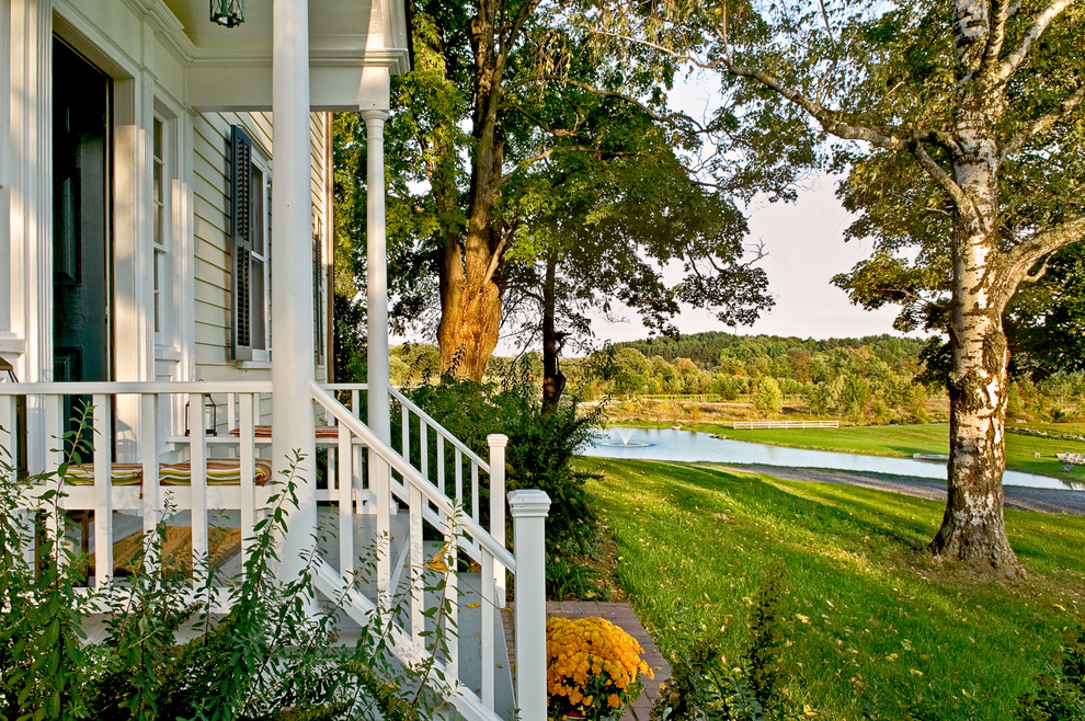 Porch Railing Ideas Porch Traditional with Entry Exterior Front Porch Garden Landscaping Lawn1