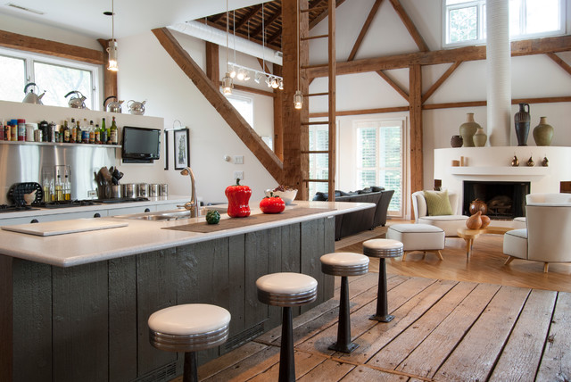 Pottery Barn Bar Stools Kitchen Farmhouse With Conversion Built In Stool Custom Cabinetry Hardwood