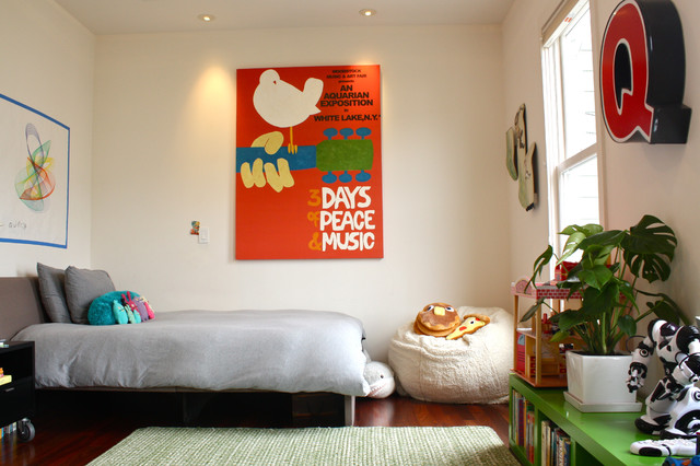 Pottery Barn Bean Bag Kids Contemporary With Area Rug Artwork Chair Bedroom Bookshelves Ceiling