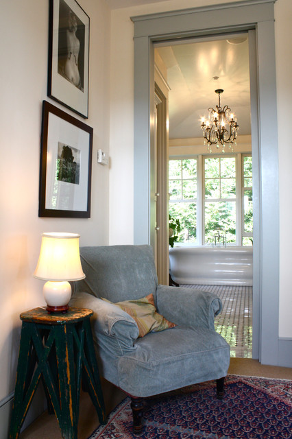 Pottery Barn Chandelier Bedroom Traditional with Area Rug Black and White Photography Door Frame Empire
