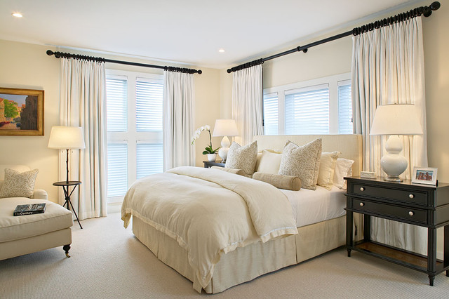 High Quality Pottery Barn Curtain Rods Bedroom Beach With Bedroom Bedside Table Beige  Carpet Ceiling Lighting Chaise Lounge
