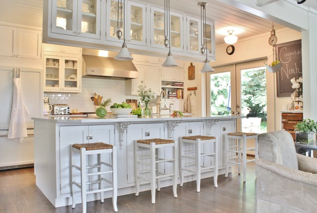Pottery Barn Stools Kitchen Farmhouse with Chalkboard Collections Farmhouse French Doors Glass Cabinets Glass Doors
