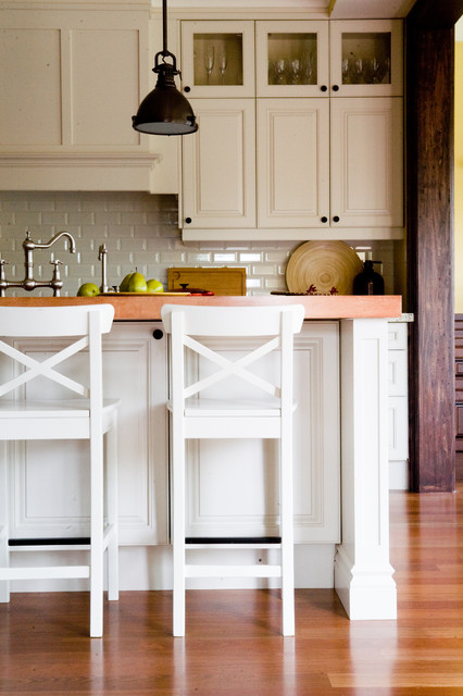 pottery barn stools Kitchen Traditional with breakfast bar bridge faucet eat in kitchen island lighting