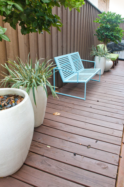 Potting Benches Landscape Modern with Blue Metal Bench Seat Cedar Wood Dark Stained Wood