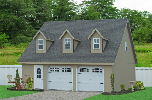 Prefab Garages Garage and Shed Traditional with Amish Built Garages Garages and Sheds Garages in Pa