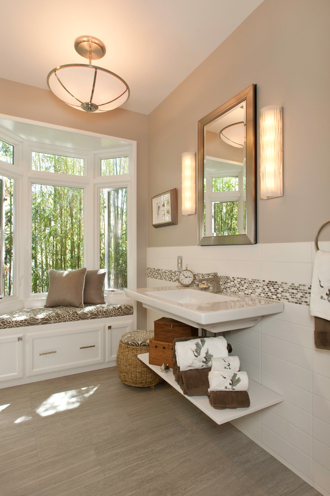 Provenza Flooring Bathroom Contemporary with Addition Basket Bay Window Ceiling Light Drawer1