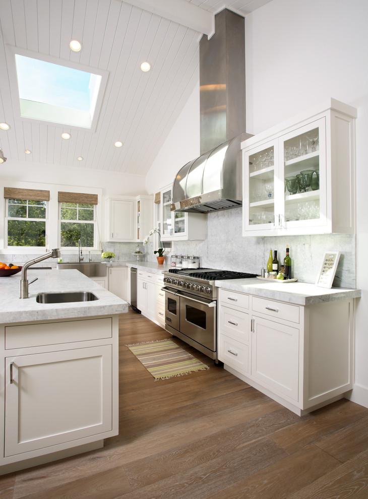 provenza flooring Kitchen Traditional with 14shaker beadboard ceiling cabinets California ceiling lighting