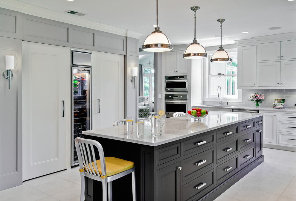 Quartzite Countertops Kitchen Traditional with Accent Cabinetry Compact Fluorescent Lights Counter Countertop