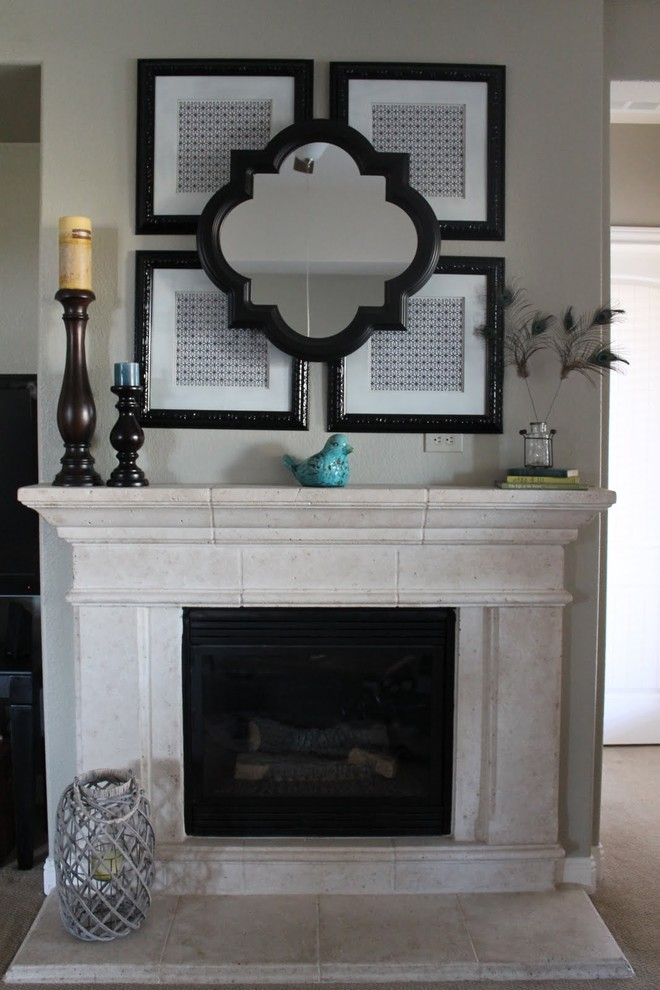 Quatrefoil Mirror Living Room Eclectic with Mantel Mirror Quatrefoil Mirror