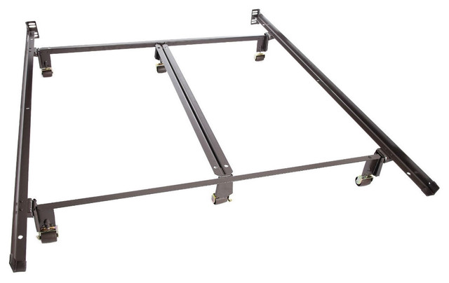 Queen Bed Frame with Headboard with 100 200 Bedframes Bedroom Capacity Centerrail Double Frame