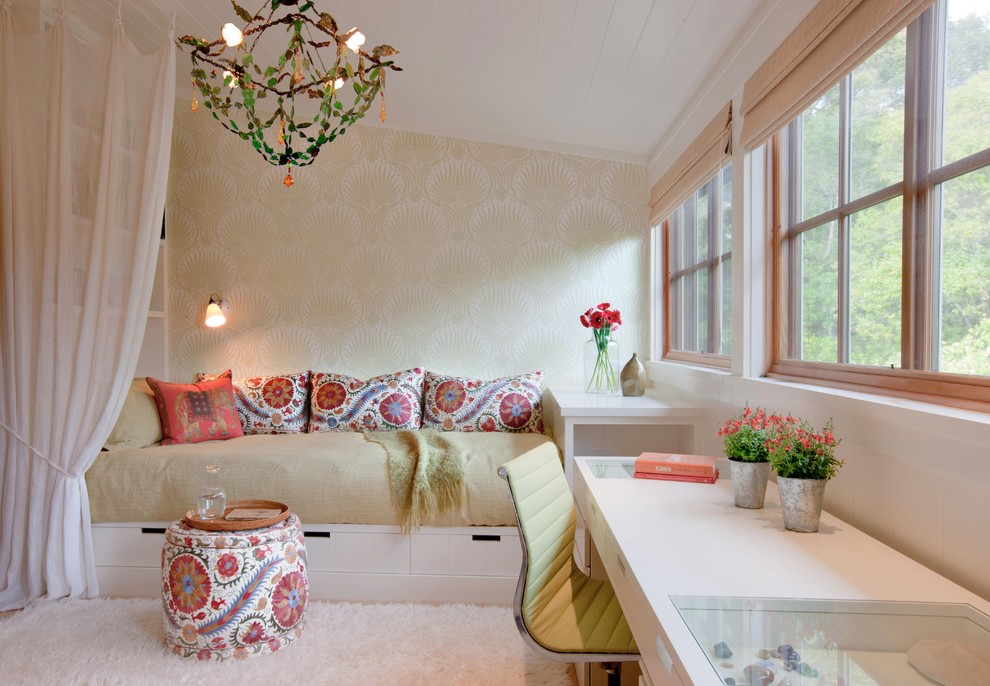 Queen Daybed Bedroom Eclectic with Bed with Storage Chandelier Color Daybed Desk