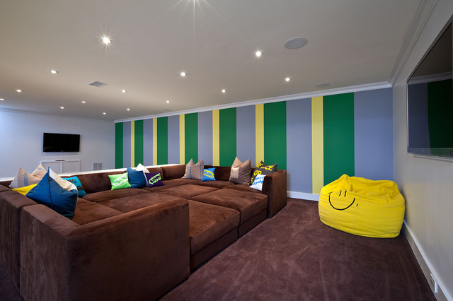 Queen Size Memory Foam Topper Basement Contemporary with Accent Wall Bean Bag Chair Ceiling Lighting Corner Sofa