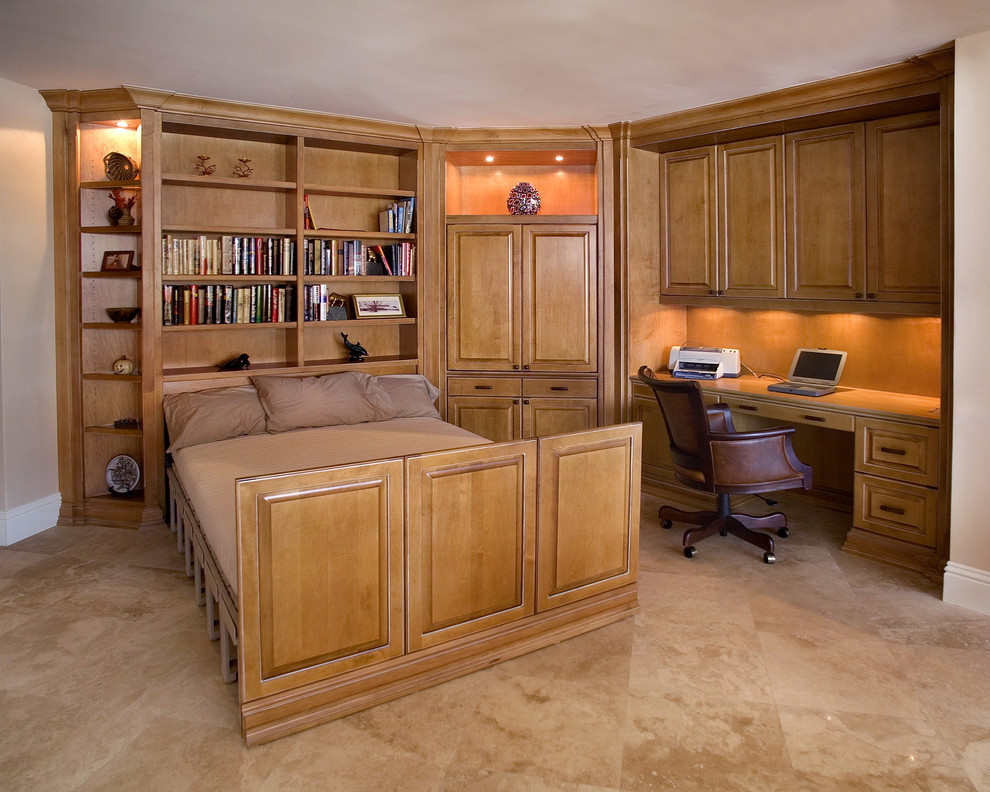 Queen Size Murphy Bed Home Office Traditional with Built in Cabinets Built in Desk Convertible