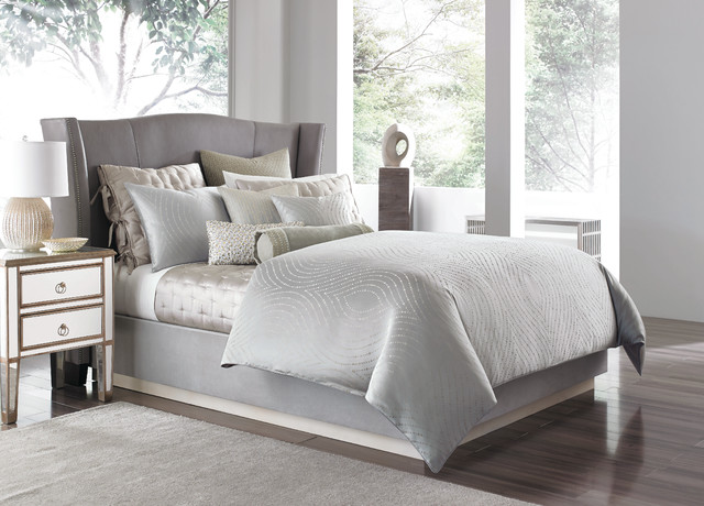 Quilted Pillow Shams Bedroom Contemporary with Hotel Collection Linen Luxury Macys Navy Neutral