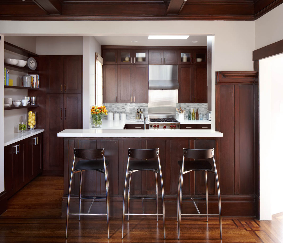Kitchen island with stools kitchen dining furniture - Rattan Bar Stools Kitchen Transitional With Black Cabinets Black