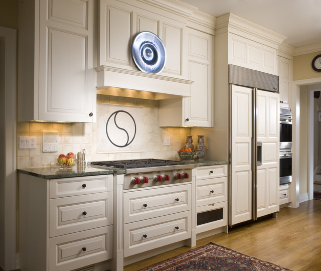 Recirculating Range Hood Kitchen Traditional with Cottonwood Mills Integrated Kitchen Ivory Off White Oriental Rug