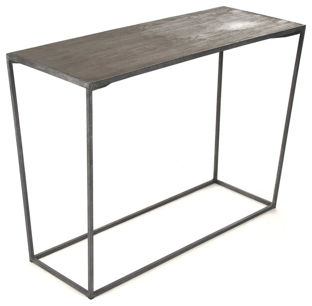 Reclaimed wood console table with gray industrial console for Sofa table grey