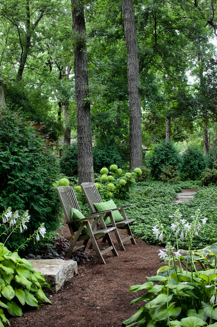 Recliner Cover Landscape Traditional with Bushes Forever Home Green Flowers Green Throw Pillow Hosta