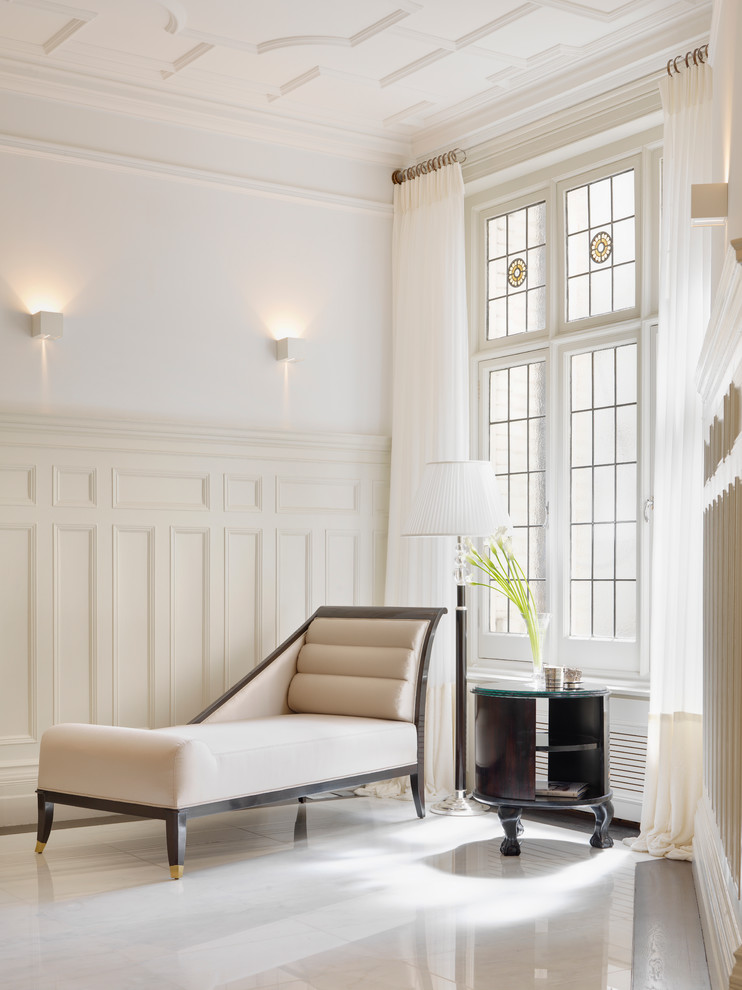 Reclining Chaise Living Room Contemporary with Beige Bespoke Black Side Table Chaise Longue