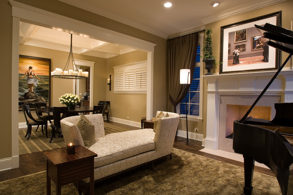 Reclining Chaise Living Room Traditional with Area Rug Baseboards Ceiling Lighting Chandelier Crown