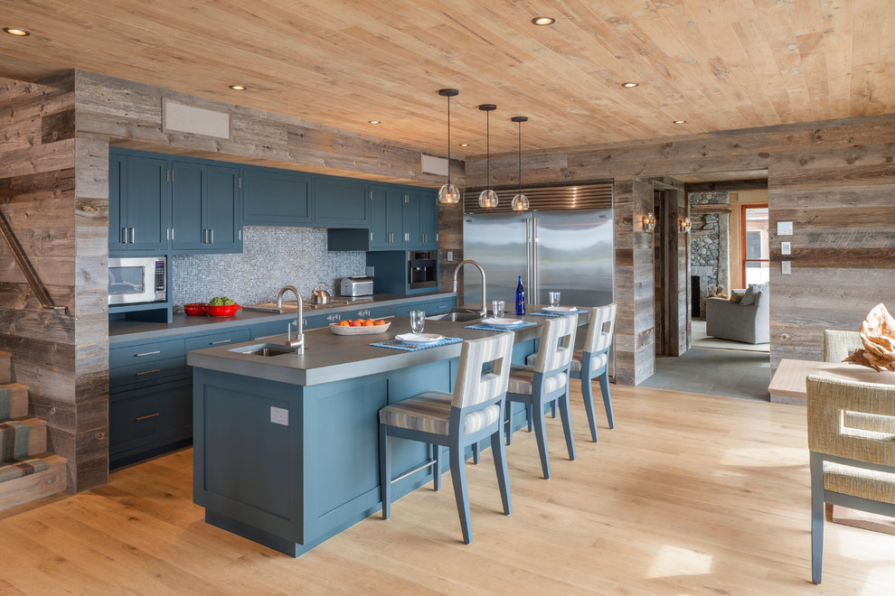 redoing-kitchen-cabinets-Kitchen-Rustic-with-2-sinks-in-kitchen ...