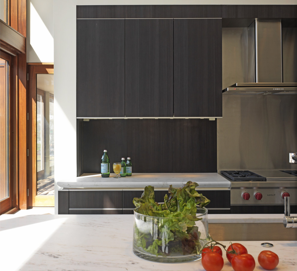 reface kitchen cabinets Kitchen Contemporary with great room kitchen island minimal neutral colors